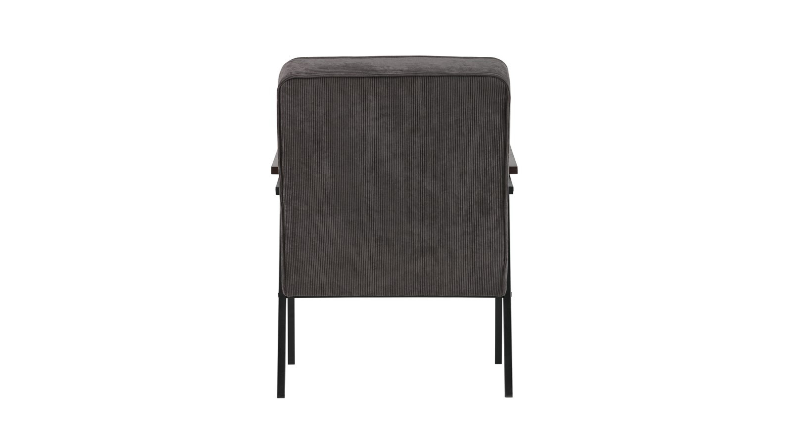 fauteuil berg re en velours synth tique gris anthracite structure en m tal collection doris. Black Bedroom Furniture Sets. Home Design Ideas