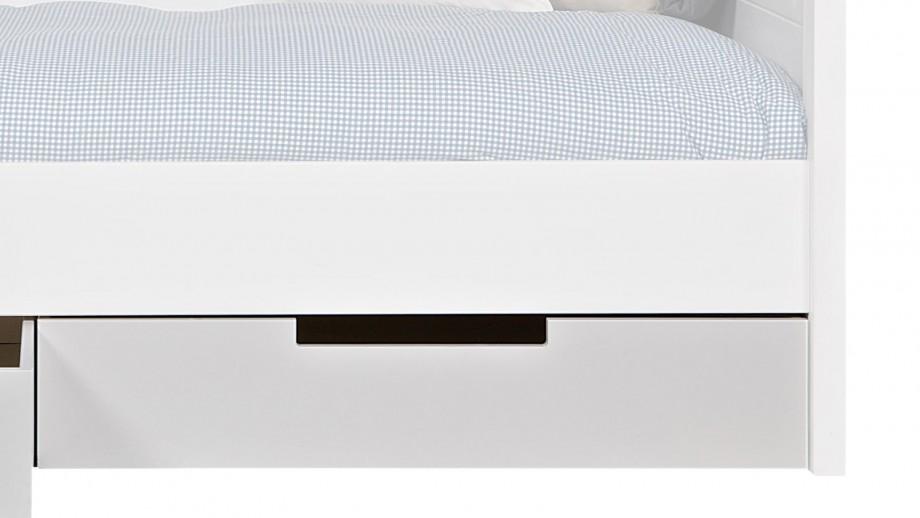 Lot de 2 tiroirs pour lit blanc en pin brossé – Collection Jade – Woood