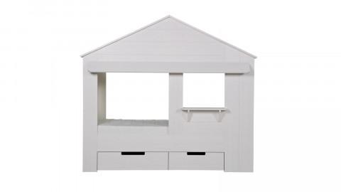 Structure de lit cabane en pin blanc (sans tiroirs) – Collection Huisie – Woood