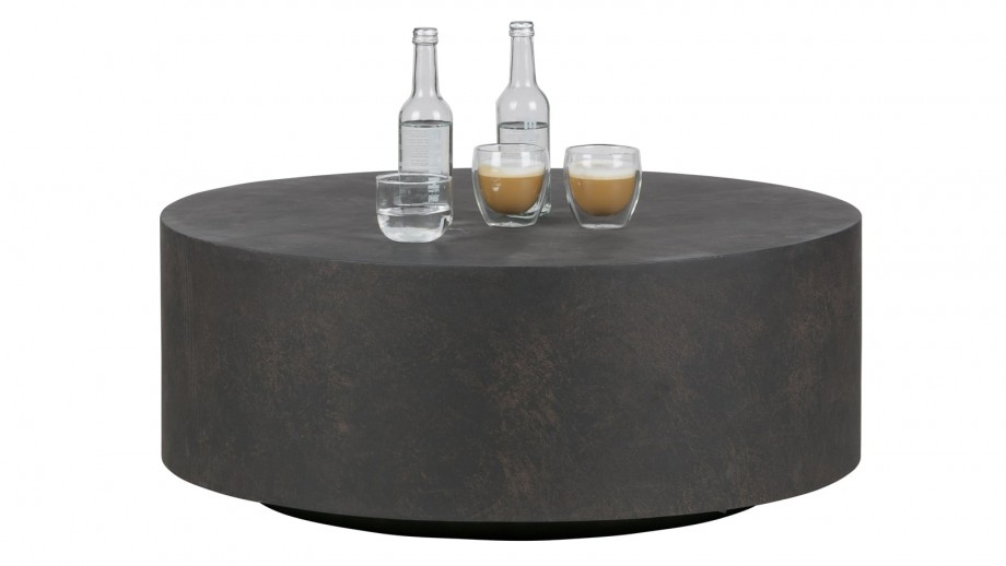 Table basse grise 34x60x60cm - Collection Dean