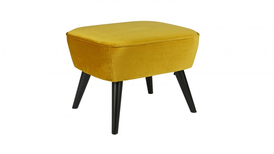 Tabouret sur jambes ocre – Collection Sara – Woood