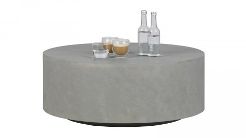 Table basse grise 32x80x80cm - Collection Dean