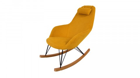 Fauteuil à bascule jaune – Collection Evy