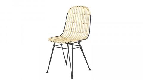 Lot de 2 chaises en kubu naturel – Collection Melody