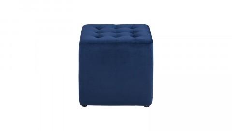Pouf en tissu bleu foncé – Collection Bryan