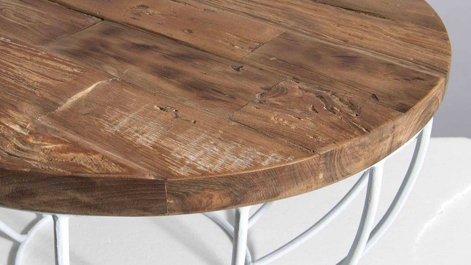 Gøran - Table basse coque blanche 60 x 60 cm