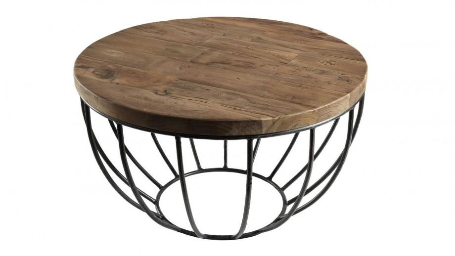 Gøran - Table basse coque noire 60 x 60 cm