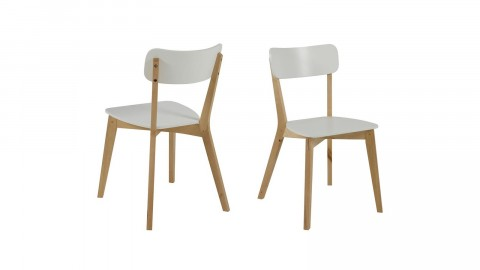 Lot de 2 chaises en bouleau blanc – Collection Raven