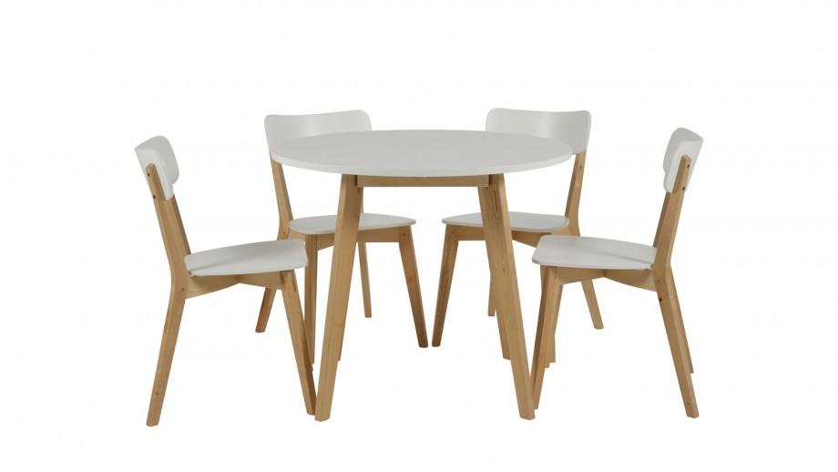 Lot de 2 chaises en bouleau blanc – Collection Raven