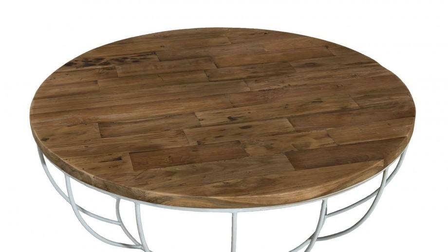 Gøran - Table basse coque blanche 100 x 100 cm