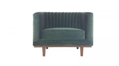 Fauteuil en velours vert – Collection Dante