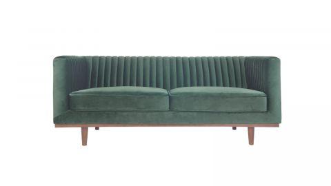 Canapé 2 places en velours vert – Collection Dante