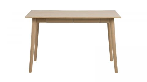 Bureau style scandinave en chêne clair 2 tiroirs – Collection Marte