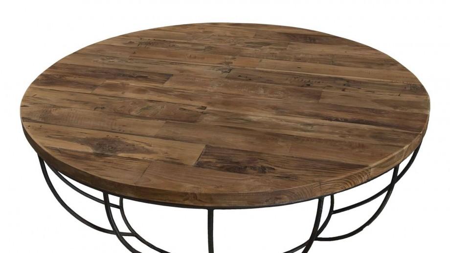 Gøran - Table basse coque noire 100 x 100 cm