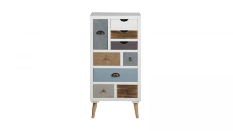 Commode multicolore 9 tiroirs – Collection Thais