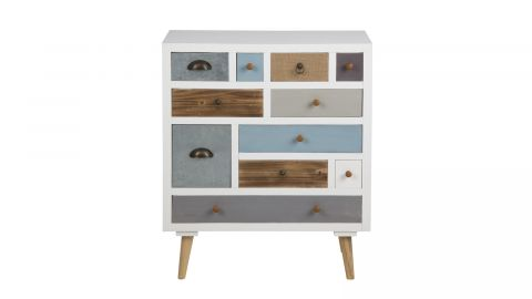 Petite commode multicolore 11 tiroirs – Collection Thais