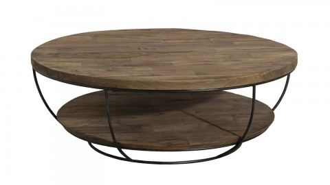 Gøran - Table basse coque noire double plateau 100 x 100 cm