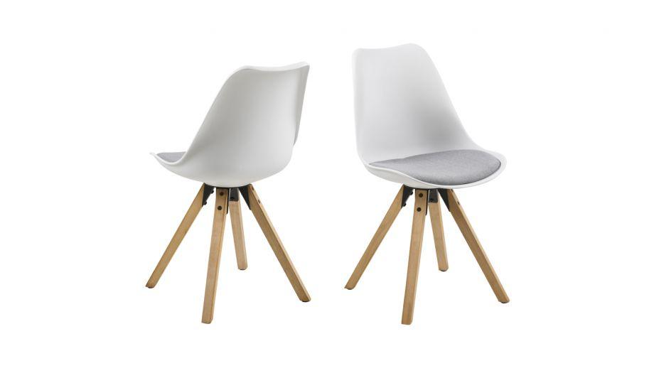 Lot de 2 chaises en polypropylène blanc – Collection Dima