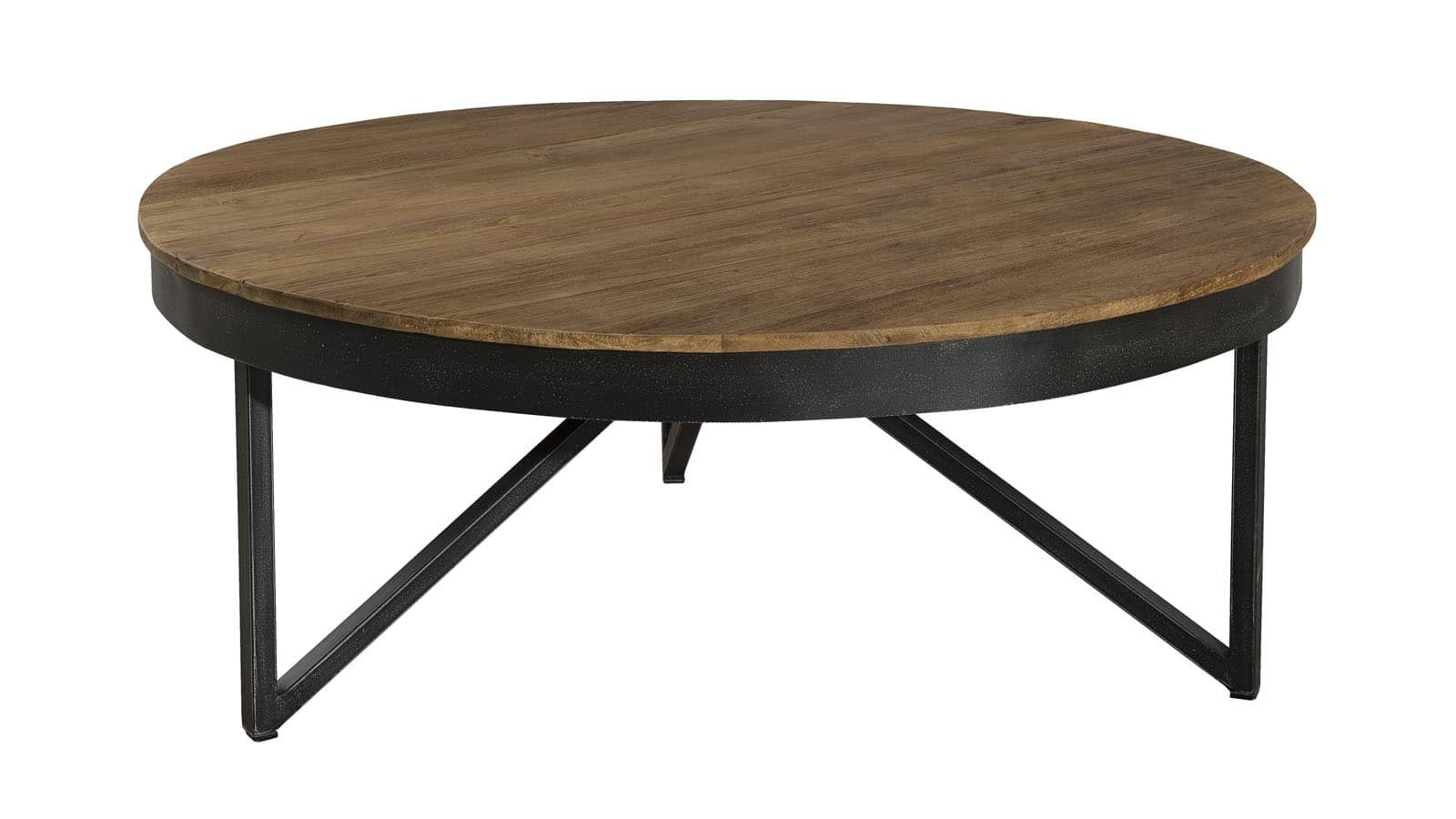 g ran table basse ronde 90 x 90 cm bois et m tal homifab. Black Bedroom Furniture Sets. Home Design Ideas