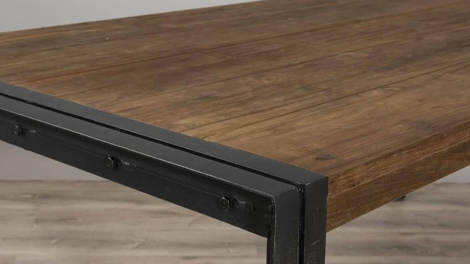 Gøran - Table à manger 200 x 100 cm bois et métal