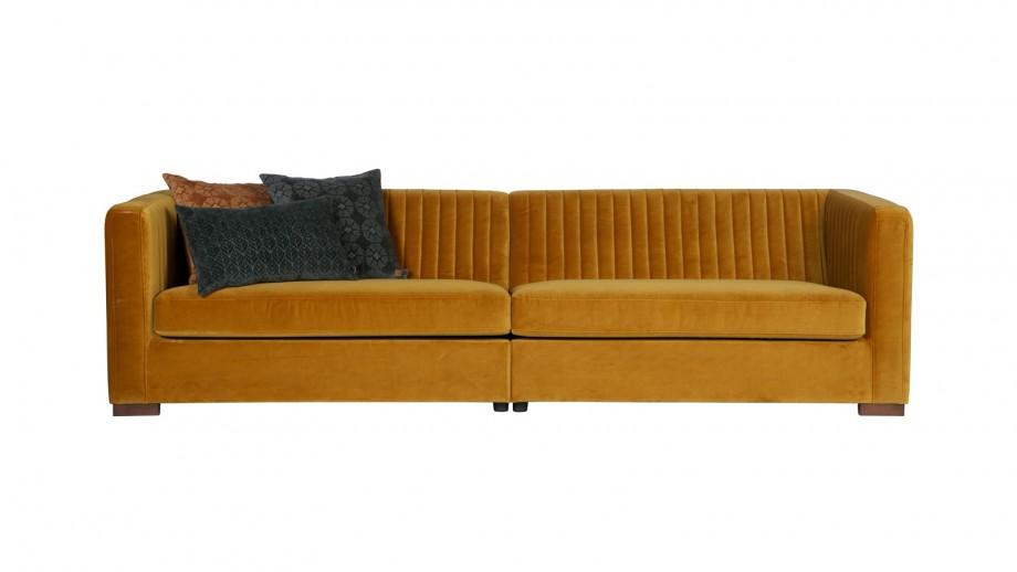 Canapé XL en velours moutarde – Collection Launy