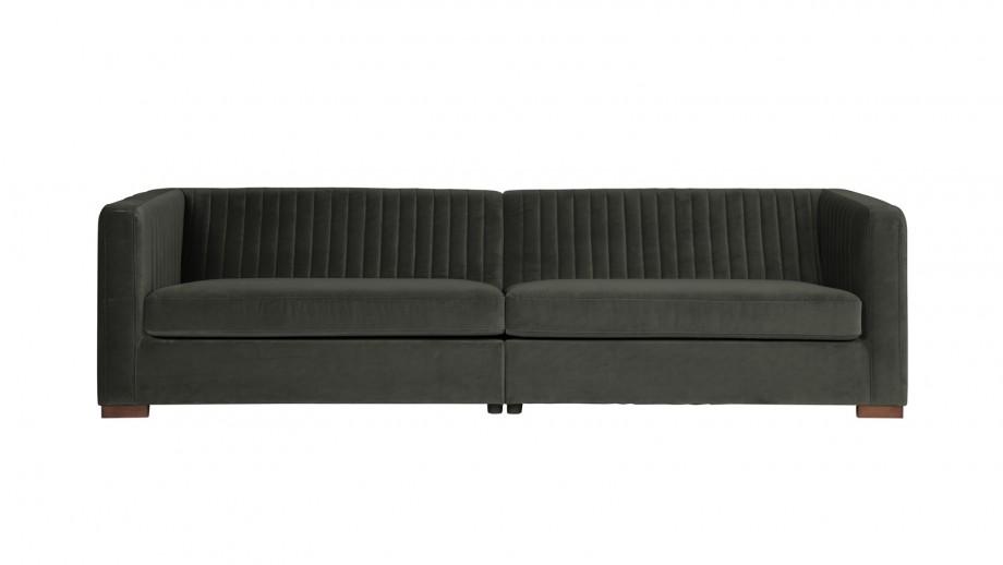 Canapé XL en velours gris – Collection Launy