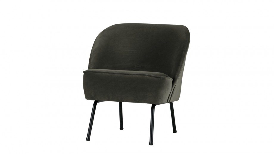Fauteuil en velours onyx – Collection Vogue
