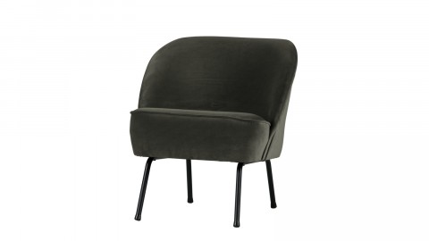 Fauteuil en velours onyx - Collection Vogue - BePureHome