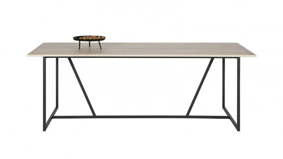 Table à manger en frêne et métal noir – Collection Sydney