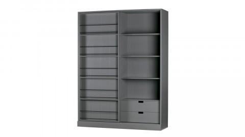 Dressing en pin avec étagères, tiroirs et portes coulissantes – Collection Swing