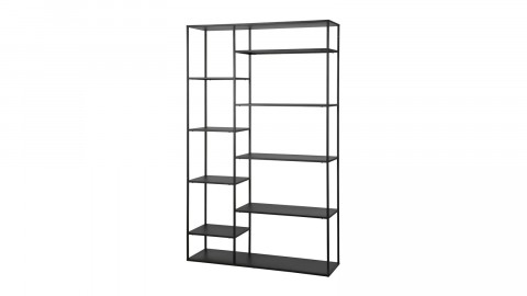 Etagère casiers en métal noir 120cm – Collection June