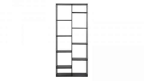 Etagère casiers en métal noir 195x 85cm - June - Woood