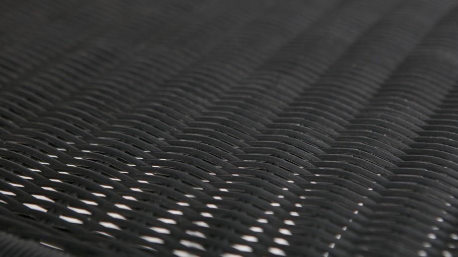 Chaise tressée noir – Collection Hilde