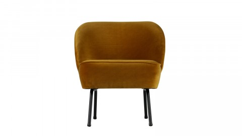 Fauteuil en velours moutarde - Collection Vogue - BePureHome