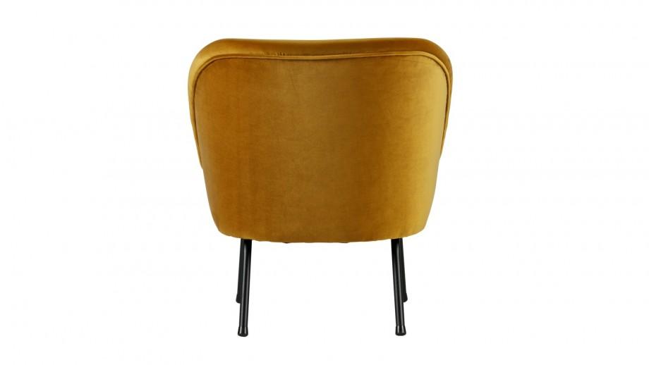 Fauteuil en velours moutarde – Collection Vogue