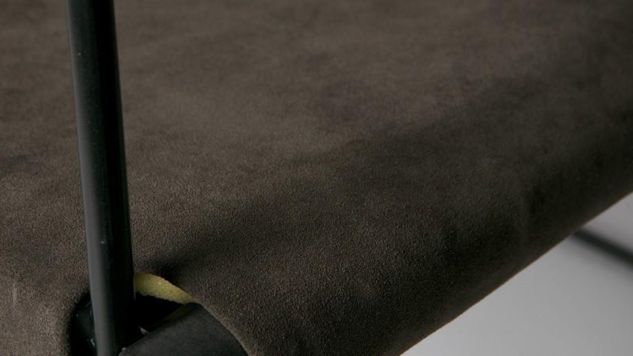 Fauteuil en suède gris chaud – Collection Future