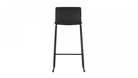 Lot de 2 tabourets de bar en simili cuir noir - Collection Evan - Woood