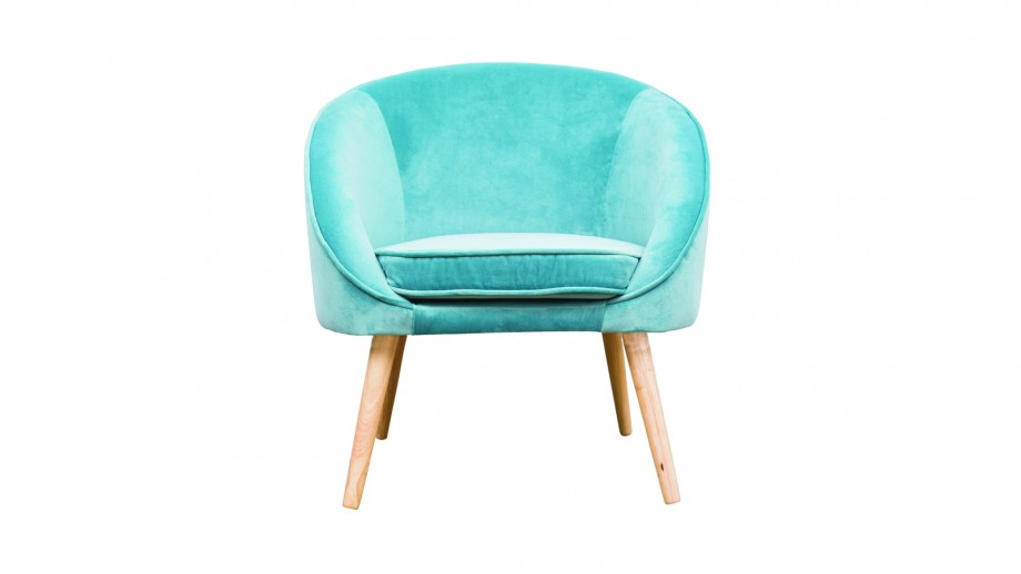 Fauteuil en velours bleu – Collection Safir