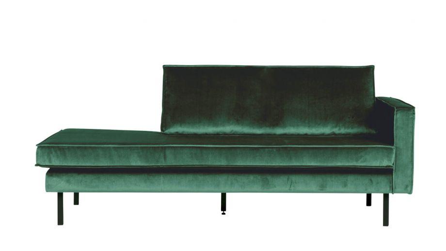 Canap m ridienne droite en velours vert for t for Canape velours vert