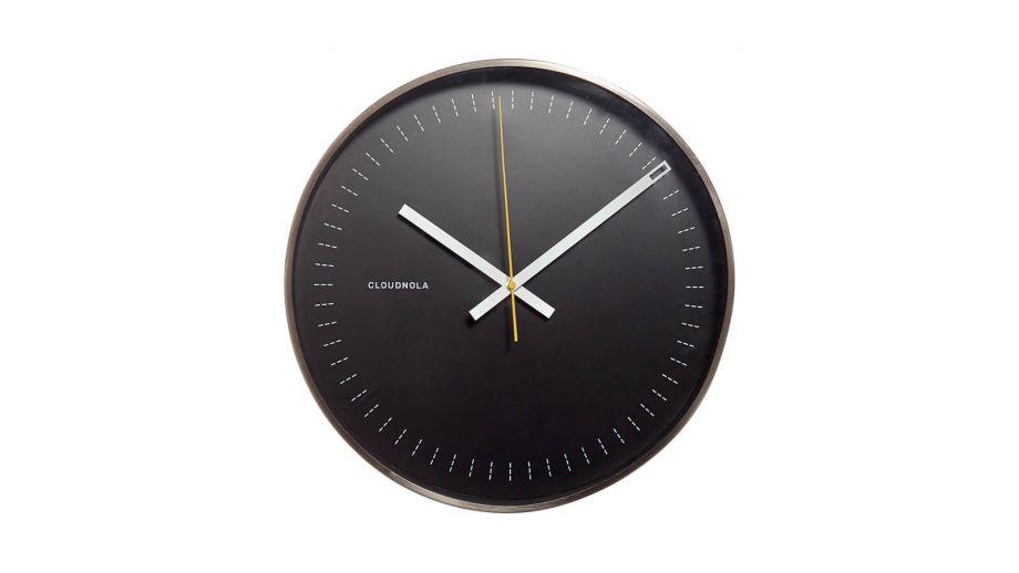 Horloge noire et contour noir – Collection Objective – Cloudnola