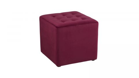 Pouf en tissu rouge bordeaux – Collection Bryan