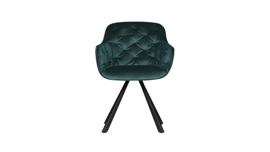 Chaise en velours vert – Collection Elaine