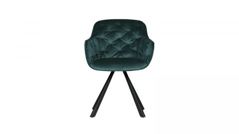 Chaise en velours vert - Collection Elaine - Woood