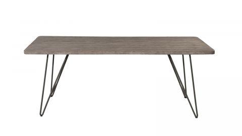 Table à manger de jardin en teck, pieds en métal – Collection Emilie