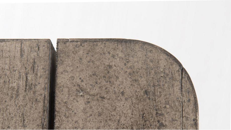 Table à manger en teck, pieds en métal – Collection Emile