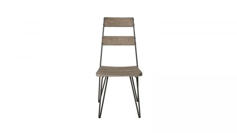 Lot de 2 chaises de jardin scandi en teck et métal – Collection Emilie