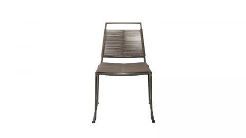 Lot de 2 chaises de jardinempilables en corde synthétique et métal – Collection Emilie