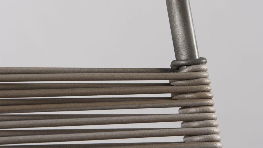 Tabouret de bar en cordage synthétique et acier – Collection Emile