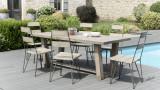 Salon de jardin en teck et métal - Collection Ibiza