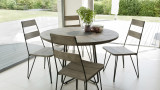 Salon de jardin en bois teck gris 4/6 personnes - Collection Majorque